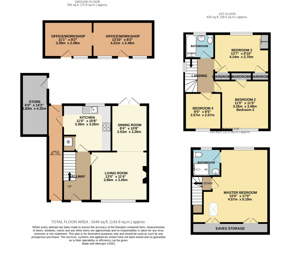 Floorplan for Kings Close, Staines-upon-Thames, Surrey